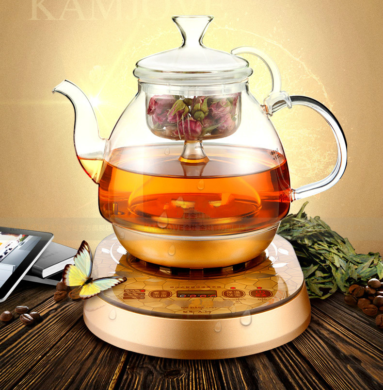 Fully automatic brewed tea - pot boiling black pu 'er electric kettle water glass Safety Auto-Off Function c pe030 promotions 100g chinese yunnan pu er tea cooked tea pu er tea rose flavor tea slimming health green food