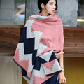 2016 New Fashion Women Poncho Cashmere& Wool Scarf Top Blanket Scarf Long Thick Shawls Women's Big Size Scarves Geometric Scarf
