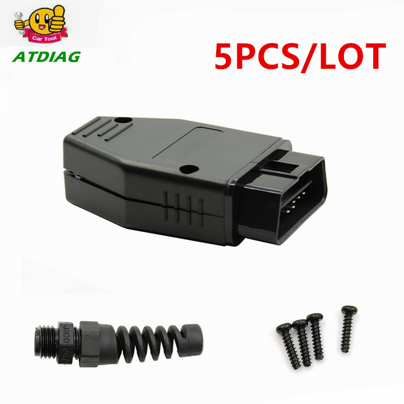 Popular Brand 5pcs/lot Obd2 Obdii Eobd Jobd Odb Odb2 Odbii Eobd2 J1962 Male Connector Plug Adapter Wiringobd2 16pin Connector Free Shipping Lustrous Surface Back To Search Resultshome