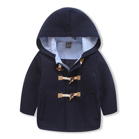 New Toddler Baby boys Winter Warm Outerwear Thicken Hooded Long Sleeve Fleece Jacket Outfit Overcoat Parka Snowsuit for 3 8T