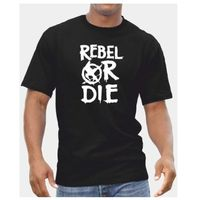 Gildan rebeldes o Die-Camiseta para hombre Niños juegos del hambre película de DVD mocking Jay presente regalo