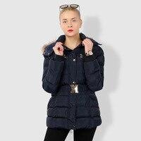 2018 New Winter Lady Parkas Women Raccoon Fur Jacket Female Outerwear Casual Long Down Cotton Wadded Lady Fur Coat