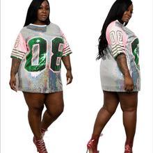 Греческая модная сексуальная женская рубашка с принтом цифр 8, летняя Женская Блестящая футболка с блестками в стиле хип-хоп, футболка из Джерси AKA number 08
