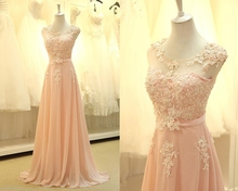 2015 Concise  Bridesmaid Dresses With Lace Appliques  Ruched Chiffon Dress for Bridesmaid Vestido De Festa De Casamento