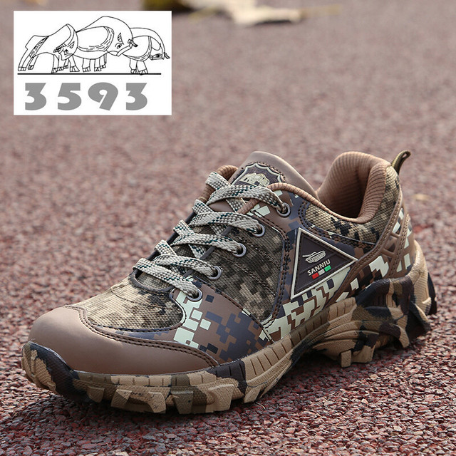 Men Tactical Military training trekking Combat climbing hiking Shoes army Camouflage bota Desert Boots camo rock mountain shoes
