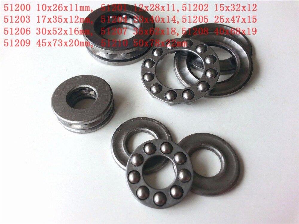 1-2pcs Roll Plane Axial Ball Thrust Bearing 51200 51201 51202 51203 51204 51205