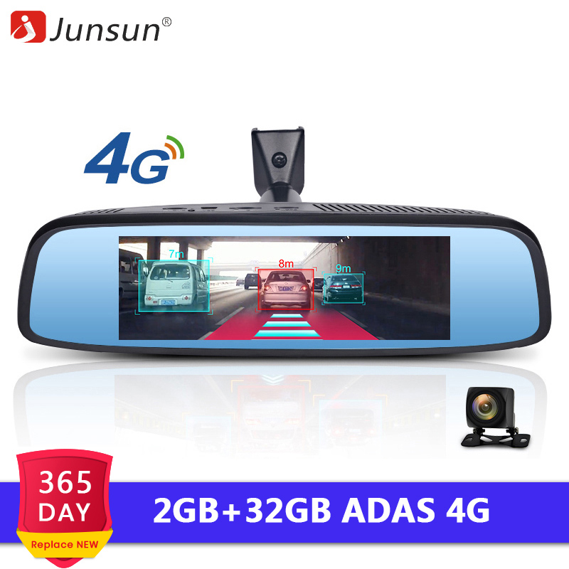 Junsun 4G Special RearView Mirror 2GB RAM Car DVR ADAS Android GPS Navi Auto 1080P Video