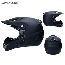 Casque de moto en Fiber de carbone intégral casque de course professionnel moto adulte motocross casque hors route DOT approuvé