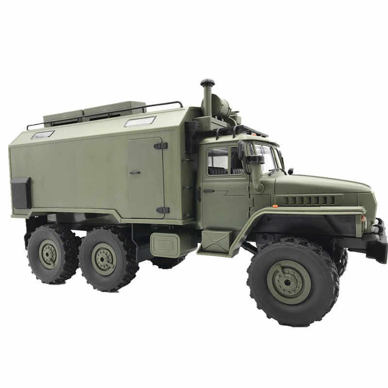 Novo b36 wpl rc caminhão ural 1/16 2.4g 6wd controle remoto caminhão militar rock crawler carro hobby brinquedos para meninos presente de natal brinquedos