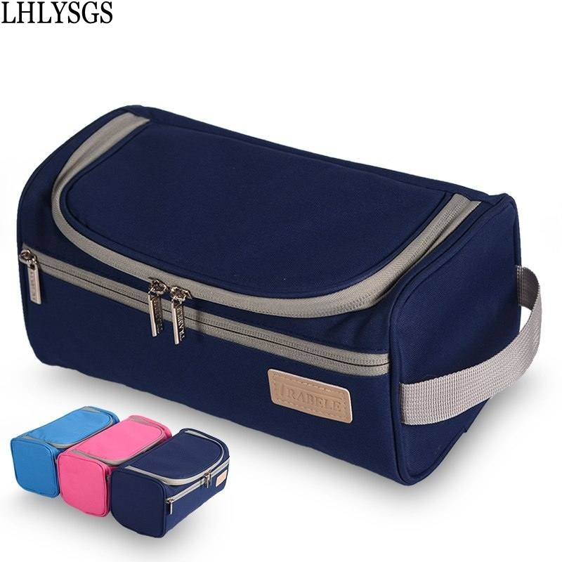 LHLYSGS Brand Waterproof Men And Women Portable Cosmetic Bags Large Storage Organizer Bag Hanging Wash Toiletry Make up Bag spark storage bag portable carrying case storage box for spark drone accessories can put remote control battery and other parts