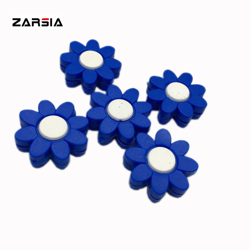 (50 Stücke) Blau Blumen Design Silcone Tennis Vibration Dämpfer/tennis Schläger Vibration Dämpfer Reduzieren Tenis Schläger Vibration