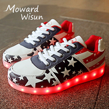 Fashion Lighted Shoes LED Slippers Luminous Sneakers Glowing Shoes with Light Up Sole Baskets Femme Kids