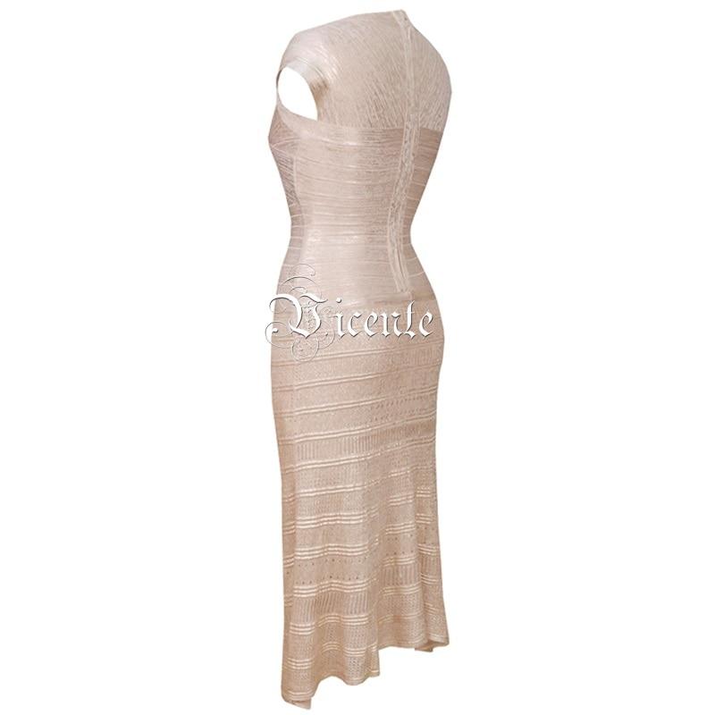 2019 Midi Party Manches Beige En ligne Celebrity Vicente Bandage V Chaude Chic Robe Gros Sexy Huile cou Imprimer Courtes A Élégant Nouveau 5FUvFax