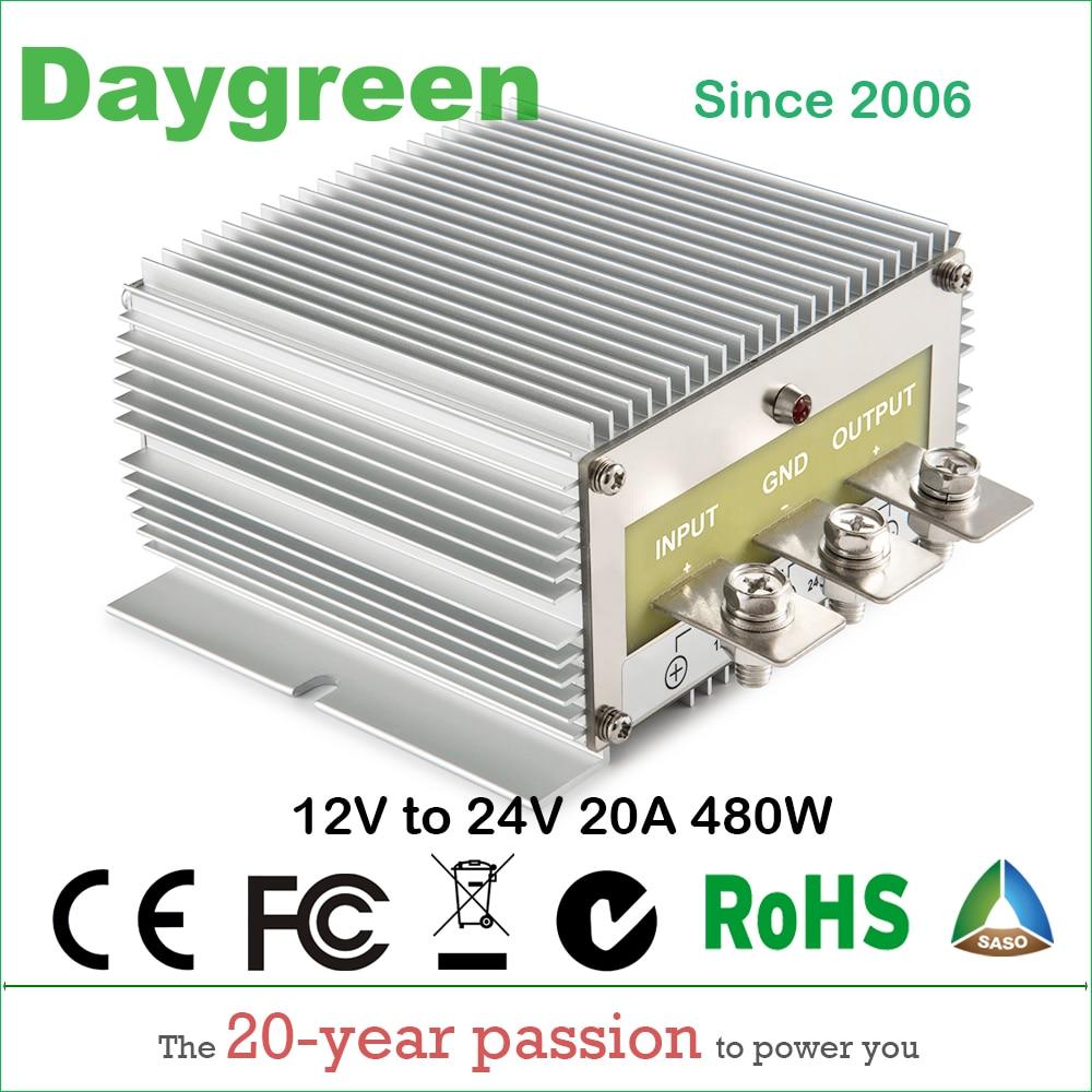 12V TO 24V 20A (12VDC TO 24VDC 20AMP) STEP UP BOOST DC DC REGULATOR 20 AMP 500WATT Daygreen CE Certificated