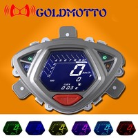 2016 Hot Sell LCD Speedometer Odometer Scooter Motorcycle For Yamaha 100RSZ7 Universal Speedometer Motorcycle 7 Color