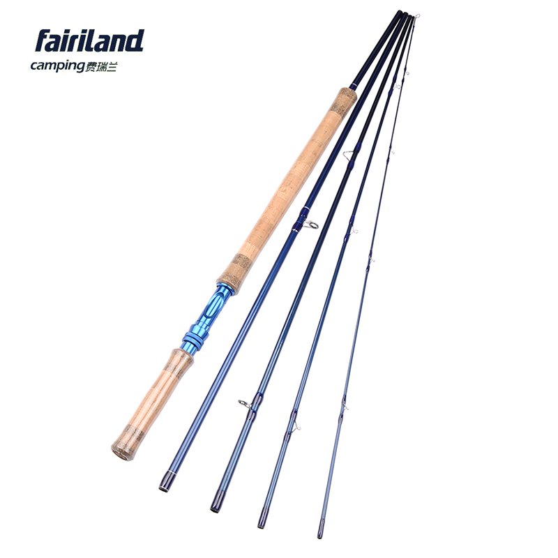 Fairiland 5 Sections 11.3ft/3.43M 7/8# Fly Fishing Rod 206g/7.3oz IM7 Carbon Saltwater/Freshwater Blue Fly Rod aveda green science masque age 8 5 oz