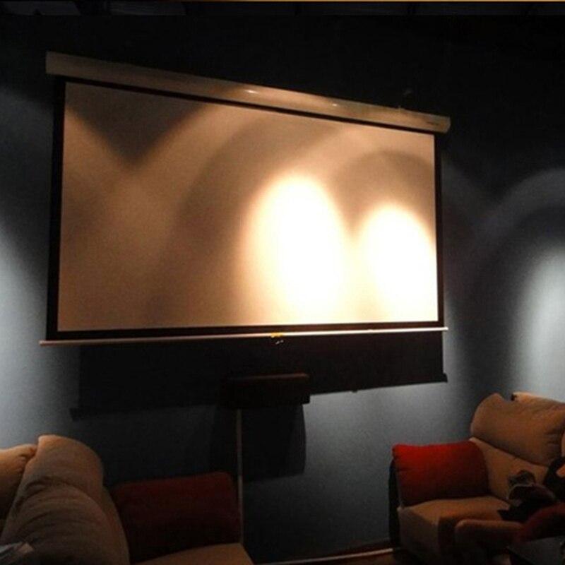 Livraison gratuite rapide! 72 pouces 16:9 écrans de Projection manuels à contraste élevé écran de Projection à verrouillage automatique