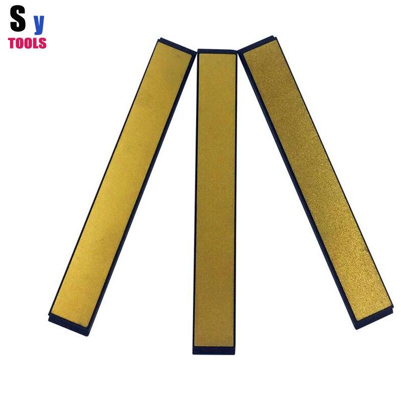 3 stücke set Sy werkzeuge Neuen Apex spitzer diamantschleifstein Titan überzug 120 + 400 + 600 Gegürtet für Ruixin spitzer Haushalt chef