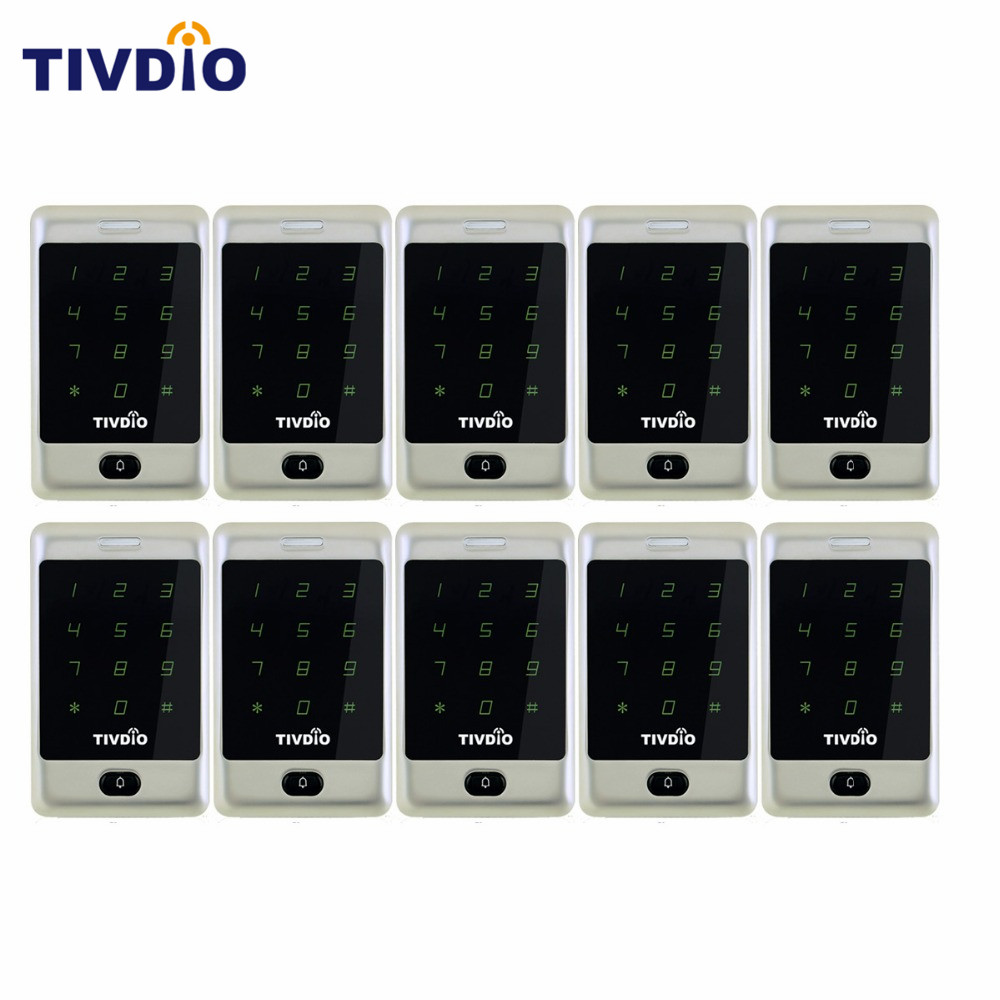 TIVDIO 10 pcs Standalone Touch Keypad Proximity For RFID Access Control System 125KHz Backlight Keypad ID Access Control F9503D turck proximity switch bi2 g12sk an6x
