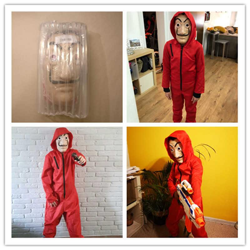 La Casa De Papel Dali traje para los hombres Carnaval De Halloween traje De las mujeres máscara los niños de los niños
