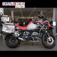 For BMW F800GS R1200GS ADV Vinyl Decal Camo motorcycle Case Cover Stickers Side Case Set Decals Waterproof 22