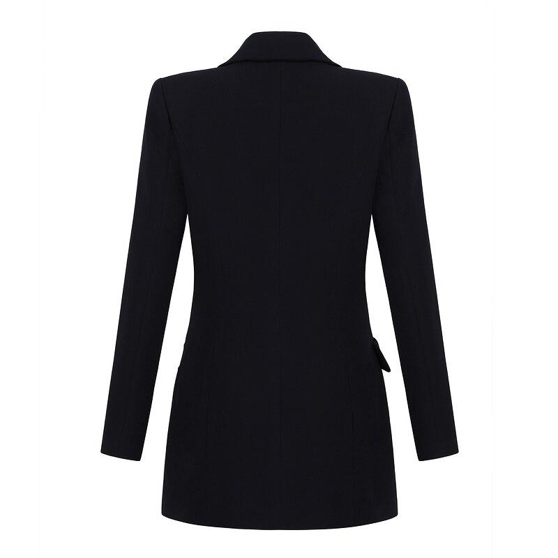 Manches Celebrity New Élégant Robes Clubwear À Summer Robe Sexy Moulante Noir En Parti Col Bouton Longues Bandage V Profond PrtPZq