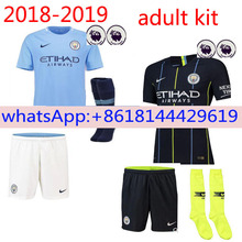 d267791a 2018 2019 SPOTS FREE 2018 NEW TOP QUALITY Manchester City ADULT SHORT  SLEEVE FOOTBALL JERSEY 18