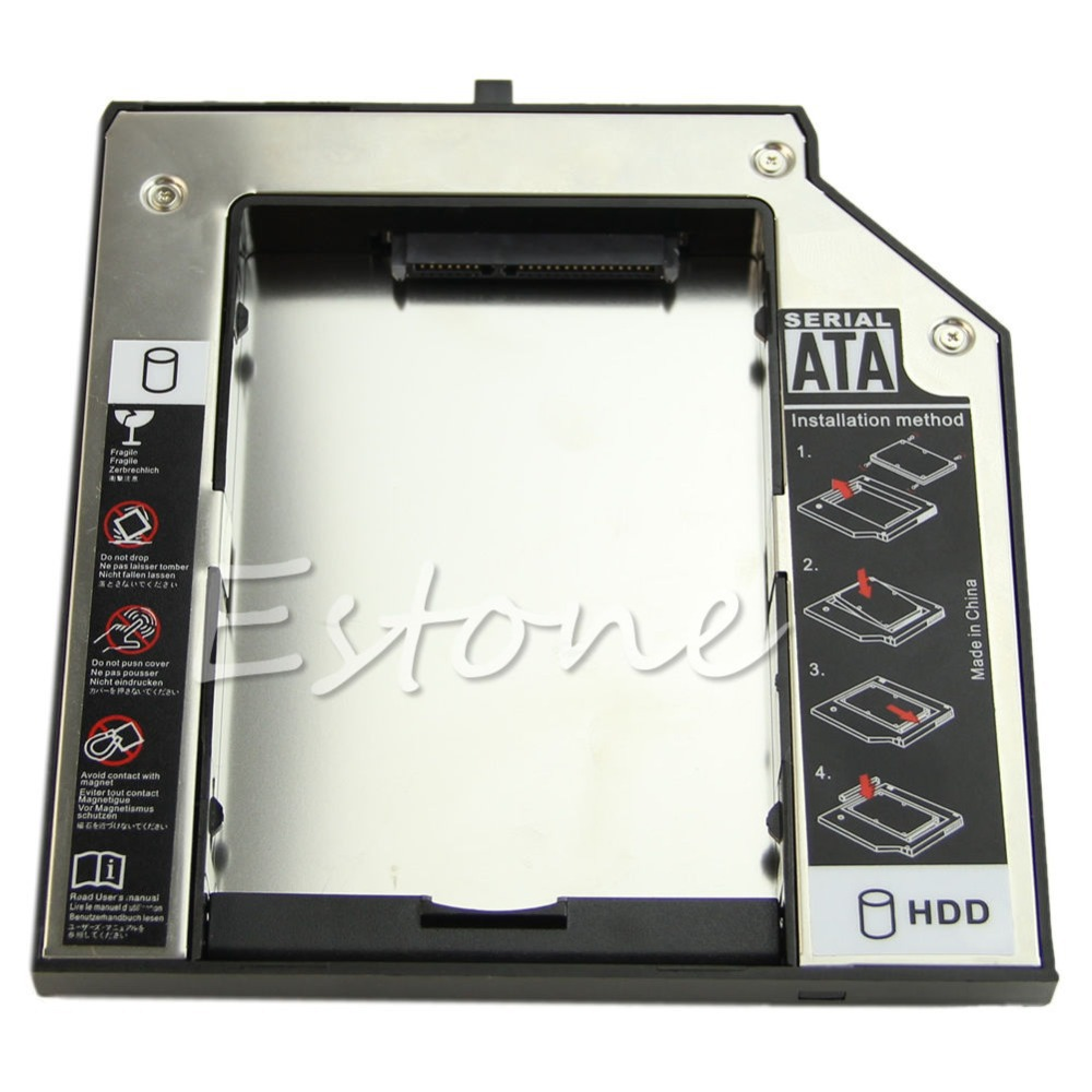 New 9.5mm 2nd SATA HDD SSD Caddy Adapter Hard Drive For IBM Lenovo Thinkpad