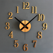 Fashion Creative 3D Diy Reversal Wall Clock