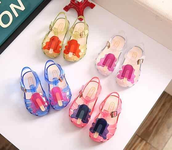 42835014caa 2019 nuevos niños Mini SED jalea sandalias para bebé niñas hielo crema de  verano de los