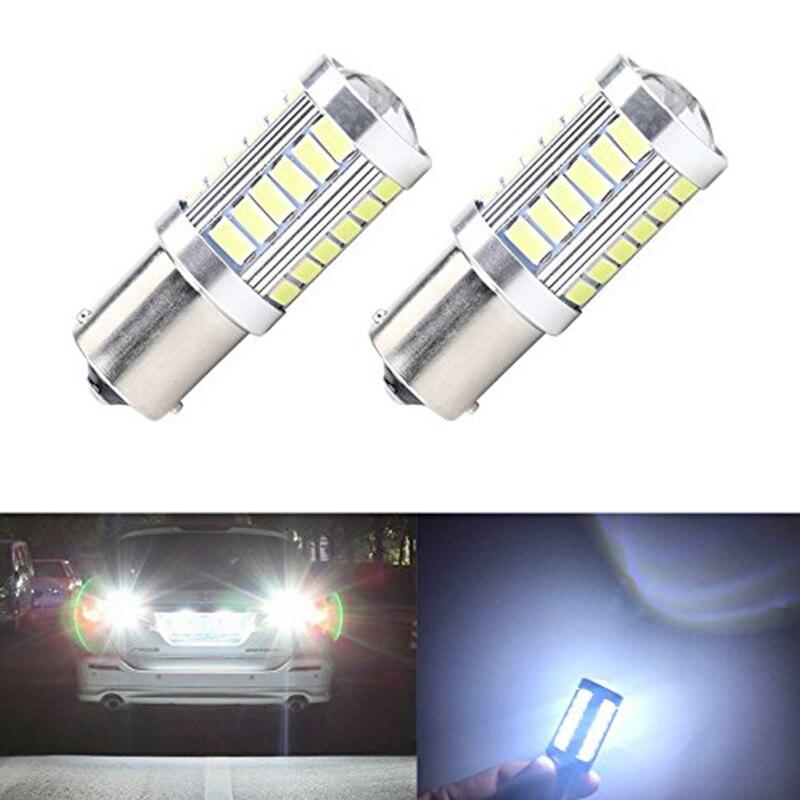 2 шт. 1156 7506 BA15S P21W 5630 5730 светодиодный автомобиль хвост лампы тормоз светильник s 12V автоматический обратный лампы дневного света сигнала светильник Z4 - Испускаемый цвет: 2pieces White