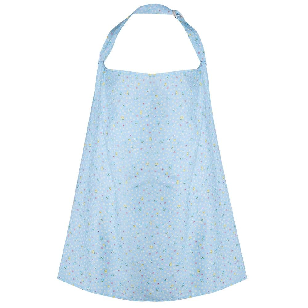 White apron brea - Adjustable Flower Print Striped Nursing Cover Brea