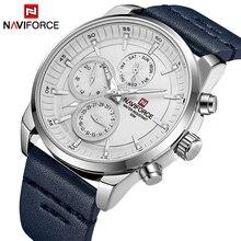 Мужские часы NAVIFORCE лучший бренд класса люкс водостойкие 24 часа дата Кварцевые часы мужские модные кожаные спортивные наручные часы Мужские часы