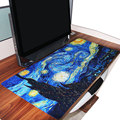 Van Gogh's Starry Night Picture Print Extended Gaming Wide Large Rubber Mouse Pad Big Size DeskGaming Mat Anti-skid