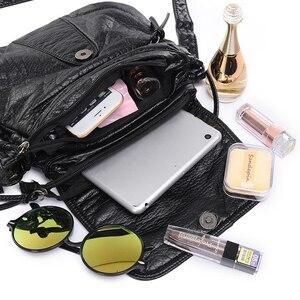 Image 4 - Aosbos小さな女性メッセンジャーバッグ洗浄puレザークロスボディハンドバッグ2019デザイナー女性のショルダーバッグbolsas