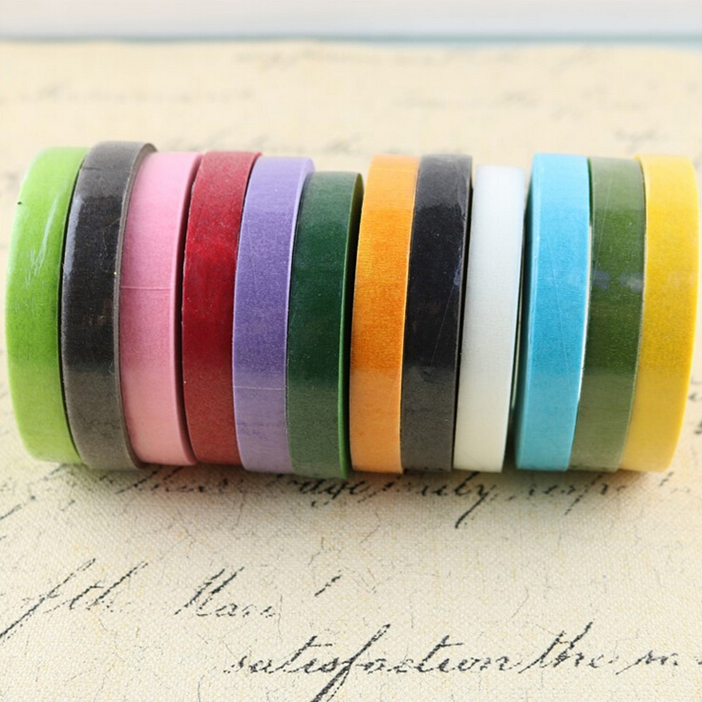 Office Adhesive Tape Gentle Peerless Diy 30 Yard Multicolor Corsages Buttonhole Flower Stamen Wrap Florist Floral Stem Tape Resealable Wrap Decorative Tape Beautiful In Colour Tapes, Adhesives & Fasteners