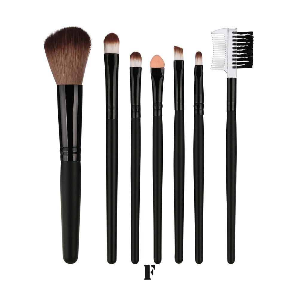 7 Pcs Blending Brush Tool Wood Makeup Brush Eyeshadow Brush Cosmetics Pinceis De Maquiagem