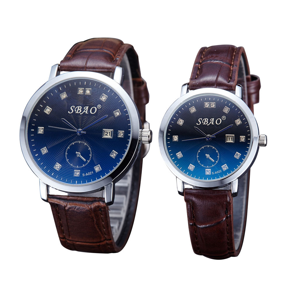 2pcs/set Couple Wristwatches Women Men Leather Watches Lovers Girl Fashion Casual Ladies Quartz Luxury Brand Relogios Femininos
