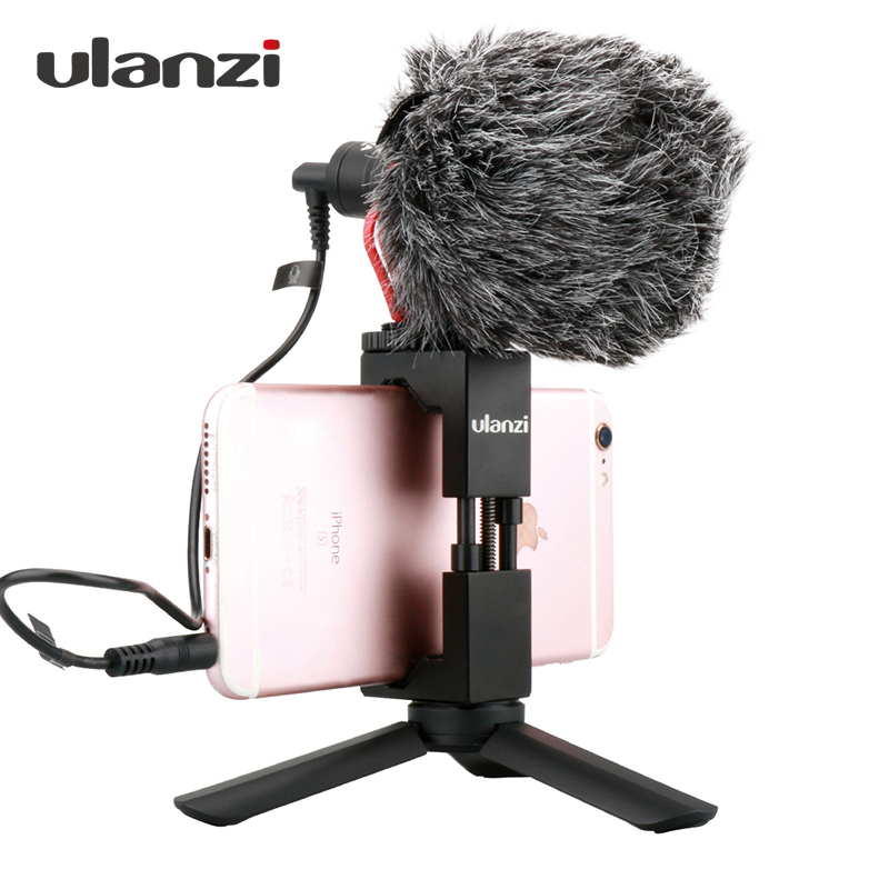 все цены на Ulanzi Smartphone Video Microphone with Handle Grip Tripod for iPhone HuaWei Filmmaking Rig stabilizer Live Streaming shotgunMic онлайн