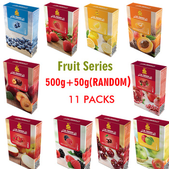 Al Fakeher Glass Shisha Hookah 500G(10pcs) Flavors Smoking Tool For Hookah Cigarette Accessories (Fruit Series)