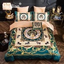 Home Textile 4pcs Bedding Sets Duvet Cover Bed Sheet Pillow Crystal Velvet Winter Warm Brand Be1031