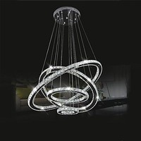 Free Shipping LED Crystal Chandelier Lihting Transparent Crystal Round 4 Rings 20CM Plus 40CM Plus 60CM