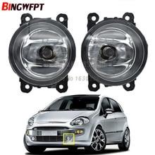 2x Front Bumper Halogen Fog Lamp 4300K 12V 90mm Round Fog Light For Fiat Punto Evo Sedici 500L Panda
