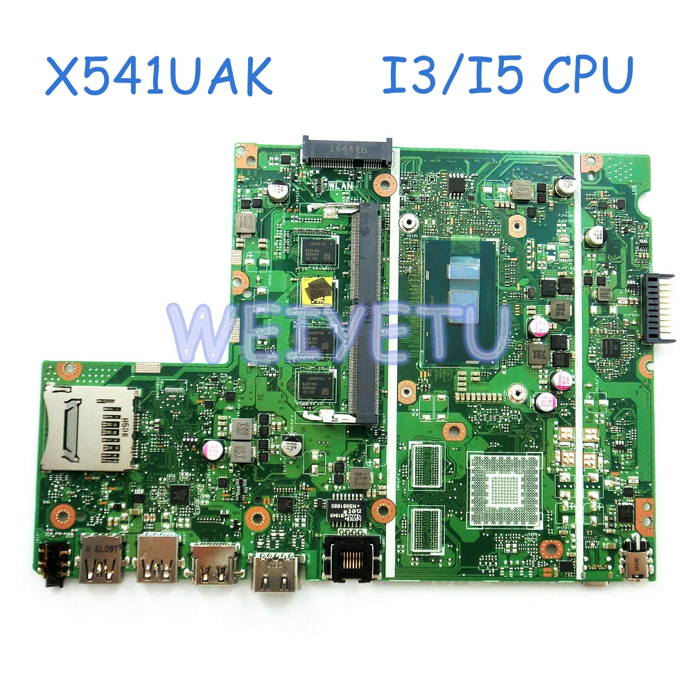 X541UA With I3 I5 CPU DDR4L 4GB RAM Motherboard For ASUS X541UAK X541UVK laptop mainboard Rev 2.0 100% Tested free shipping x541uak with i3 7100 cpu mainboard rev 2 0 for asus x541uak x541uvk laptop motherboard usb 3 0 hdmi 100