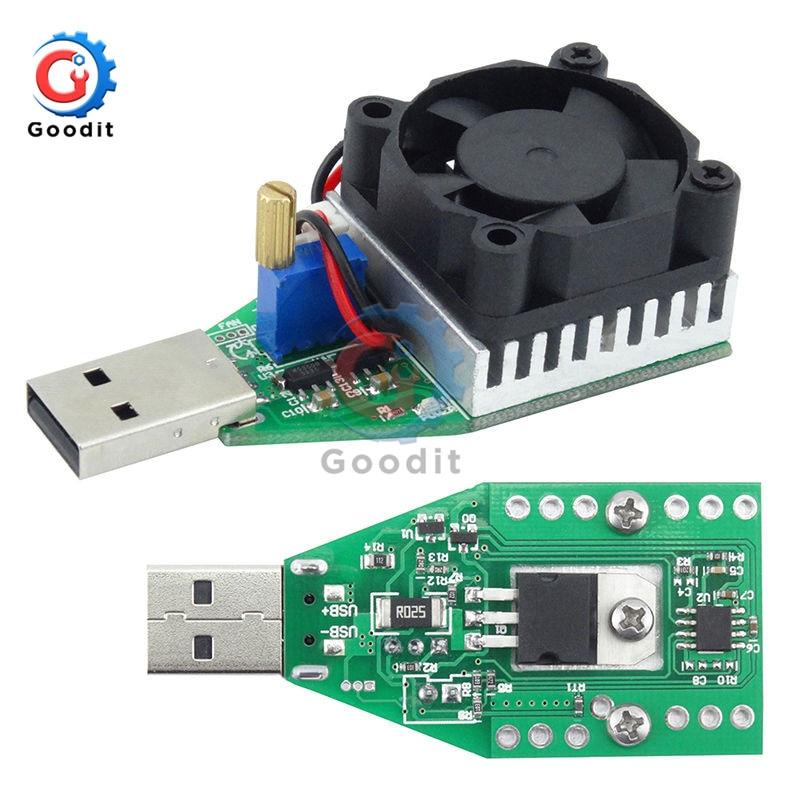Aletler'ten Pil Test Cihazları'de 15W DC 3 V 21 V elektronik Test yük direnci USB arayüzü akü deşarj kapasitesi Test cihazı fanı ayarlanabilir akım modülü title=