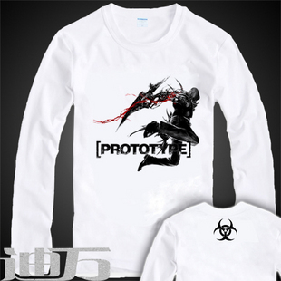 de982af6c8fa the resident evil Diy prototype eric clothing clothes white long-sleeve T- shirt hoodie