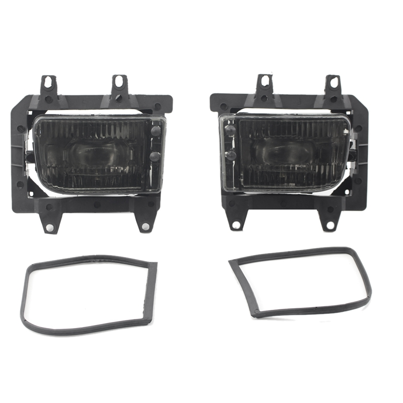 2Pcs Yellow Clear Lens Cover Front Bumper Fog Light Lamps House For <font><b>Bmw</b></font> <font><b>E30</b></font> 318I 318Is 325I <font><b>325Is</b></font> 325E 325Es 325Ix 63171385945 image