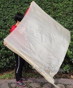 "Image 3 - ベージュ、 1 ピース 2.7 メートル * 1.1 メートル (3 ヤード * 45 "") ハンド塗装ベリーダンスシルクベール、リアルflowy 5 ミリメートルpajシルク!"