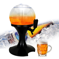3.5L Spherical Beer Dispenser Machine Liquor Wine Juice Beverage Dispenser with Built in Ice Container Drink Dispenser Bar Tools
