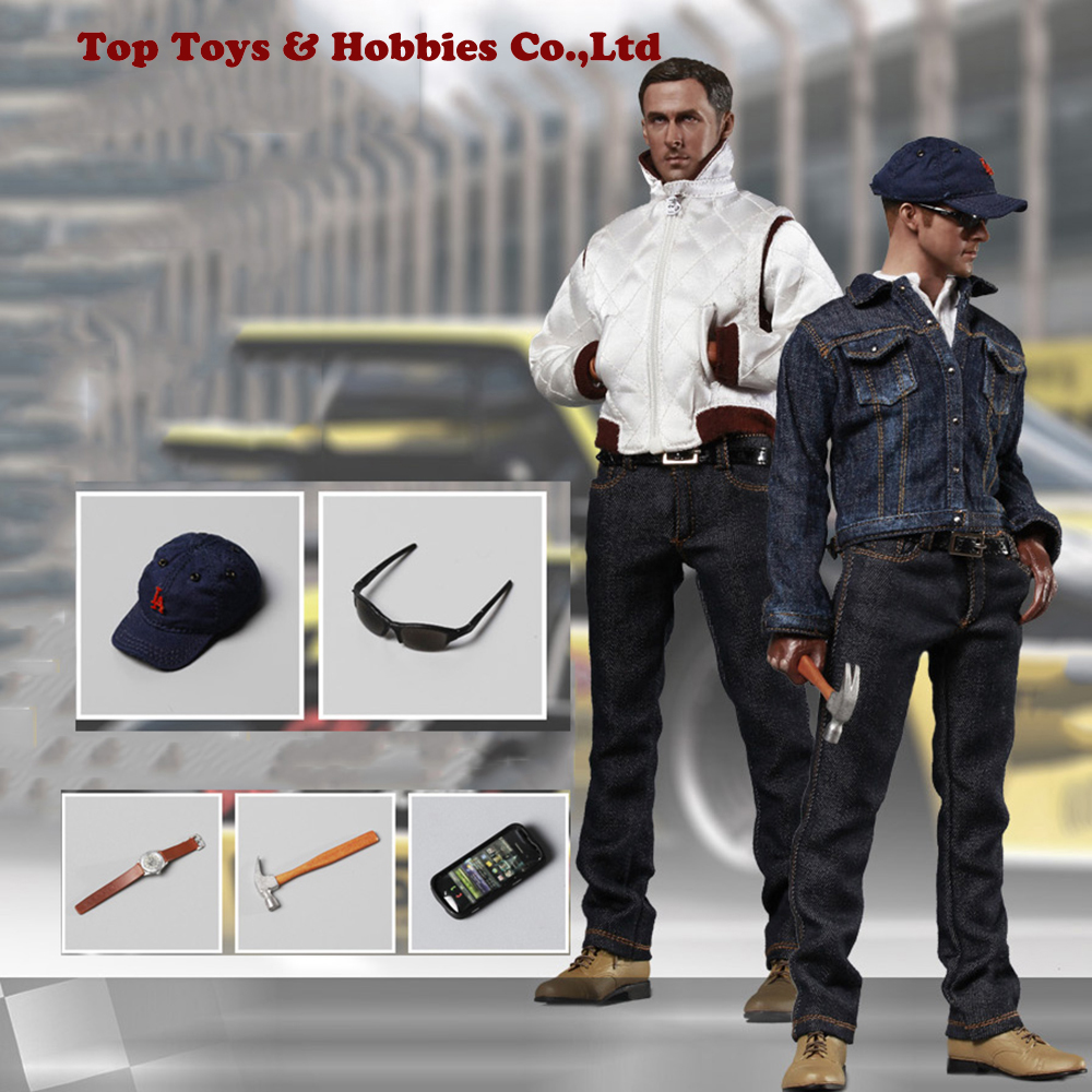 Full set doll 1/6 Scale Drive Driver Ryan Gosling Poseable Figure Collectible Racer Action Figures With body & 2 Sets of Clothes